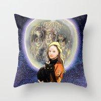 hocus pocus Throw Pillows featuring Hocus Pocus by grapeloverarts