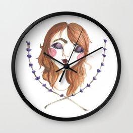 Lady Lavender Wall Clock