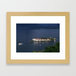 Busy Day On Lake Maggiore Framed Art Print