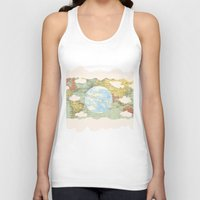 world maps Tank Tops featuring Off The Maps by Grace M