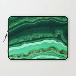 Gold And Malachite Marble Laptop Sleeve