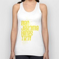 caleb troy Tank Tops featuring Ben Jerome Hines Troy / Black by Brian Walker