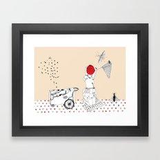 Catch more flies with honey... Framed Art Print