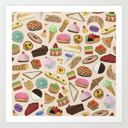 Desserts of NYC Cream Art Print