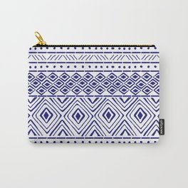 African Mud Cloth // Blue Carry-All Pouch