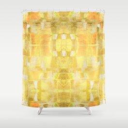 Babalon - Gold Metallic Soft Mid Century Pattern Shower Curtain