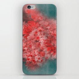 Abstract Red Flowers iPhone Skin