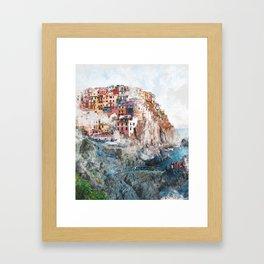 Manarola Italy Framed Art Print