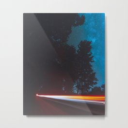 Longexposure Light trail Metal Print