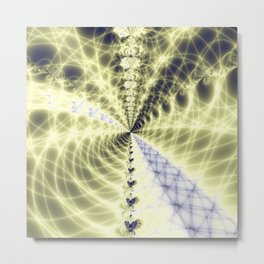 Fractal Bridge Metal Print