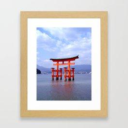 Red Gate at Low Tide Framed Art Print