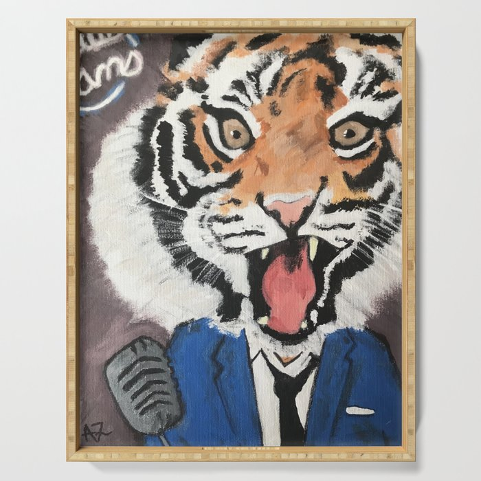 Crooning Tigers Serving Tray