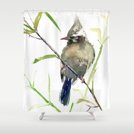 Yuhina Bird Shower Curtain