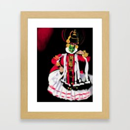 25- Kathakali…Kerala dance art form Framed Art Print
