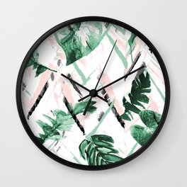 Tropical paint texture Wall Clock
