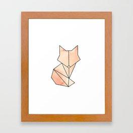 Geometric Fox - Orange Framed Art Print