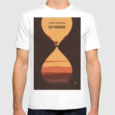 No719 My 127 Hours minimal movie poster MEDIUM White Mens Fitted Tee