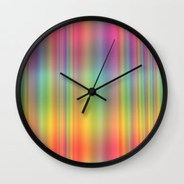 Rainbow Glass Design Wall Clock