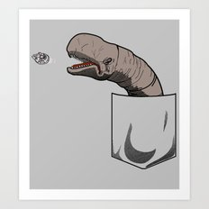Space slug Art Print