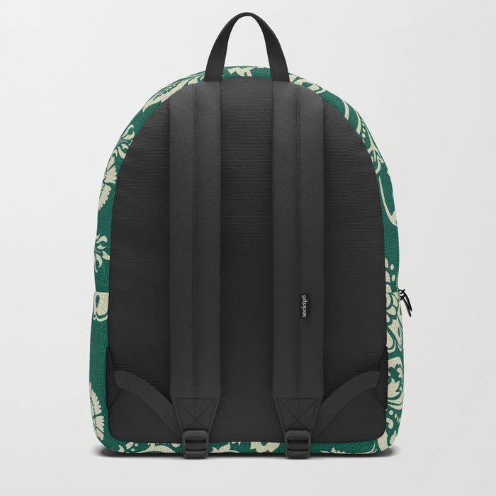 Damask vintage in green Backpack