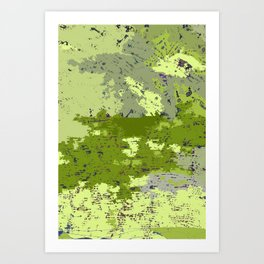 Almost Camouflage, Almost Military Map Art Print