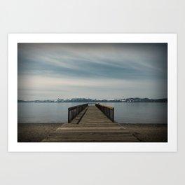 Kings Beach Pier Art Print