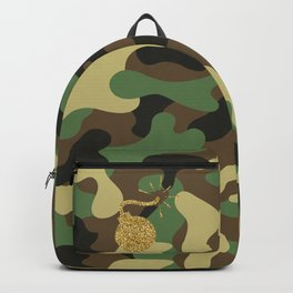 CAMO & GOLD GLITTER BOMB DIGGITY Backpack