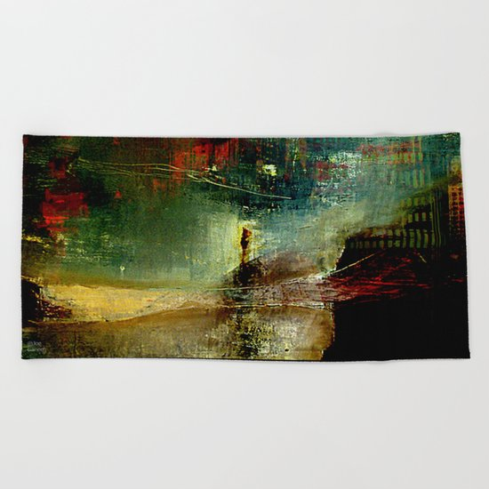 The city which fell asleep Beach Towel