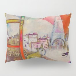 'Paris Through the Window' by Marc Chagall Pillow Sham