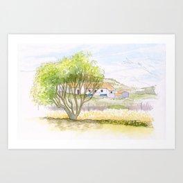 Portuguese villa - Burgau Art Print