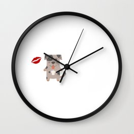 I Kissed A Catahoula Leopard Dog And I Liked It Cute Dog Kiss Gift Idea Wall Clock
