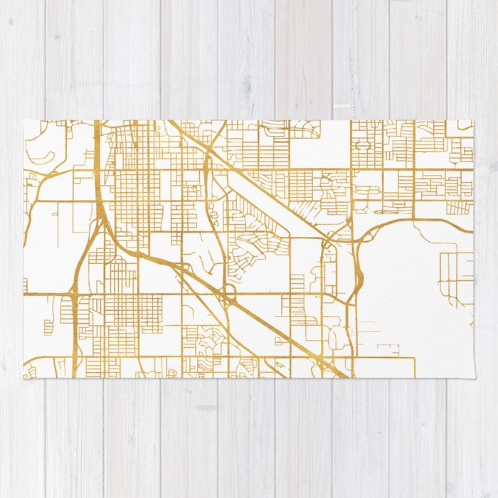 TUCSON ARIZONA CITY STREET MAP ART Rug by deificusart | Society6