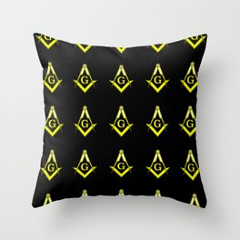 Square and Compasses – masonic, escauadera,compas,freemasonry, freemason. Throw Pillow