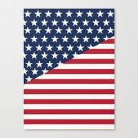 flag Canvas Prints featuring Flag by dani