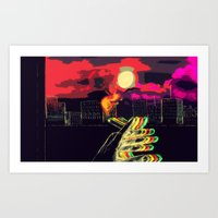 lost in translation Art Prints featuring Lost in Translation  by Omnii