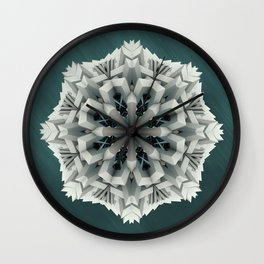 Winter Flakes Wall Clock