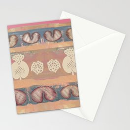 burnt hearts Stationery Cards