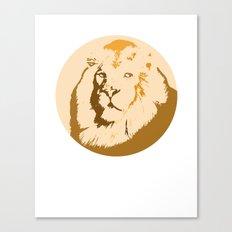 Noble Lion Totem Portrait Canvas Print