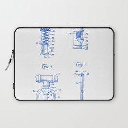 Fire Sprinkler Head Closure Plug Vintage Patent Hand Drawing Laptop Sleeve