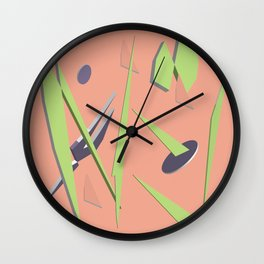 80s Shapes, Colors and Space Wall Clock