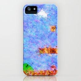 Super Mario Bros World 1-1 Impressionist Painting iPhone Case