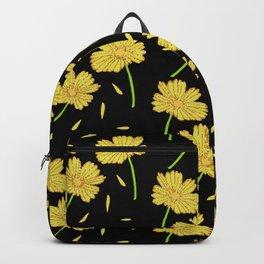 Dark Florals- Gold Backpack