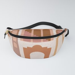 Mid Century Modern Minimalist Ancient Ruins Vases Terracotta Pastel Hues Architecture Fanny Pack