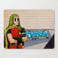 robin hood Canvas Prints featuring Robin da hood by Next Level Doots