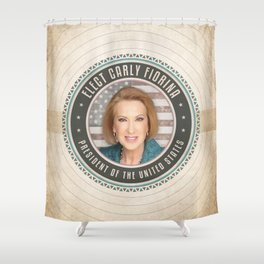 Elect Carly Fiorina Shower Curtain