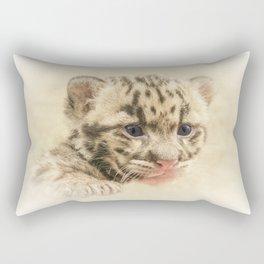 CUTE CLOUDED LEOPARD CUB Rectangular Pillow