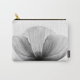 XRAY FLOWER [transparent black white poppy petals] Carry-All Pouch
