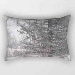 Soft snow falling Rectangular Pillow