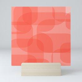 Peachy Salmon Shades Mini Art Print