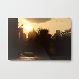 Brooklyn's setting Sun Metal Print